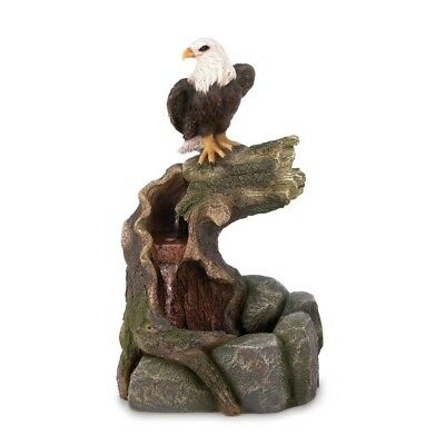 Indoor Outdoor Eagle Statue Figurine Electric Water Fountain with Pump NIB