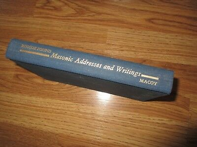 1953  Masonic Addresses & Writings Roscoe Pound  HC 1st Ed  Free Masons