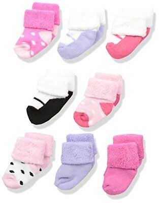 Socks Luvable Friends Unisex 8 Pack multi-color Shoes 0-6 Months Baby Toddler