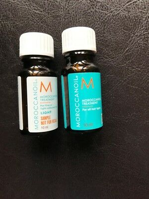 Moroccanoil Hair Treatment 3 or 4 x 10ml light or original travel/trial size