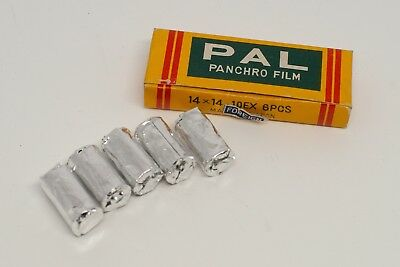 Rare Vintage PAL Panchro Film 14 x 14mm 10 Exposures for HIT Camera 5 Rolls Box