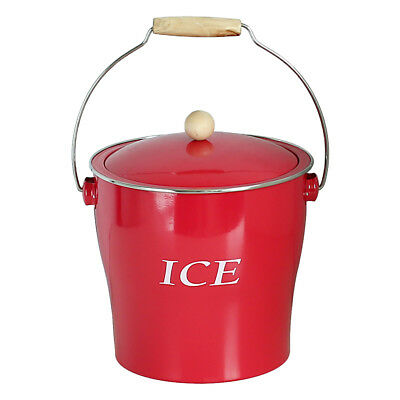 Metal Ice Bucket Champagne Wine Cooler with Handle & Lid Bar Pub Party