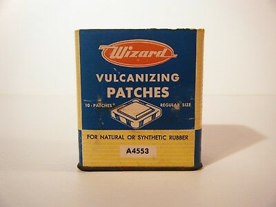 Vintage 1950's Wizard Western Auto Vulcanizing Patch Units box empty no Top