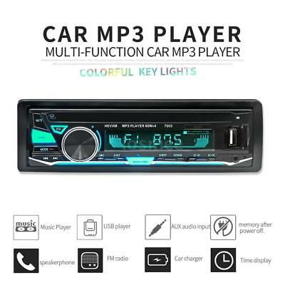 Bluetooth Car Radio Stereo MP3/USB/SD/AUX-IN FM Radio Player Amplifier 1DIN V6H8