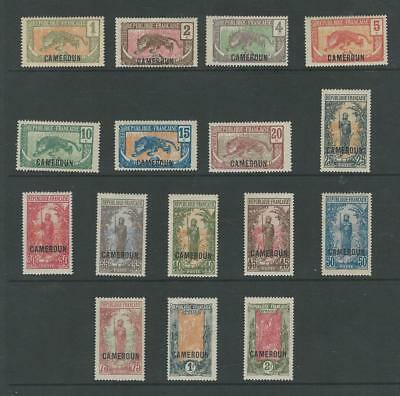 Cameroun - French, Postage Stamp, #147-162 Mint Hinged, 1921, JFZ