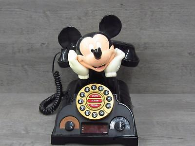 Mickey Mouse Talking Alarm Clock Radio Telephone For Repair