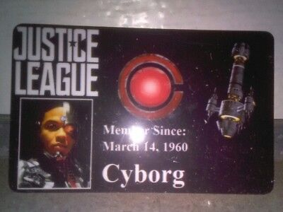 Novelty DC Justice League ID Badge Cyborg Cosplay Accessory others 4 sale