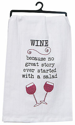 Kay Dee Designs Wine Story Flour Sack Towel One Size White