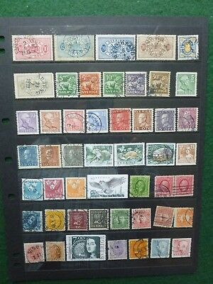 Swedish Stamps, About 193 Stamps with a few Duplications