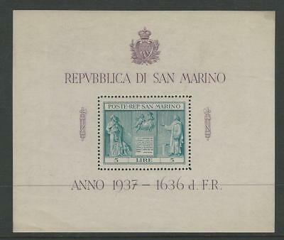 San Marino, Postage Stamp, #185 Mint NH Sheet, 1937, JFZ