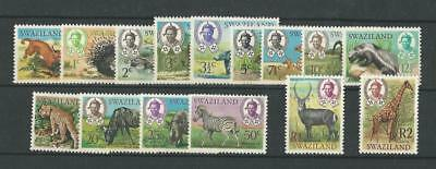 Swaziland, Postage Stamp, #160-174 Mint NH, 1969 Animals, JFZ