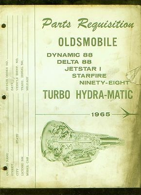 1965 Oldsmobile Parts Requisition Turbo Hydra-matic publication