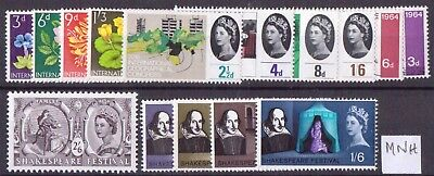 Queen Elizabeth 1964 Commemoratives Full Year Set (4 Sets) Mnh