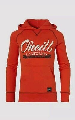 O'NEILL - Boys Paprika Red Homeland Hooded Sweater Hoodie Top 7-8 Years BNWT