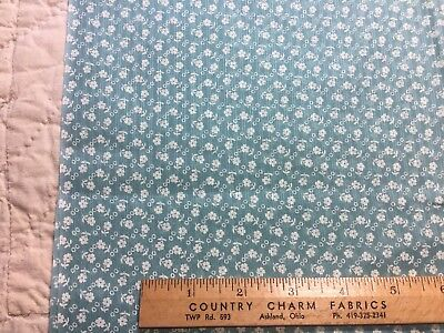 Vintage Cotton Organdy Dimity Fabric 30s40s SWEET Lil Daisies 35w 1/2yd