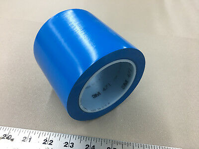 """1 Roll 3M Vinyl Tape 471 Blue 4"""" inch x 36 Yards New Great Deal"""