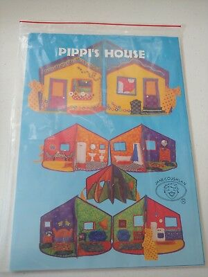 NEW Pippi's House Dollhouse Sewing Pattern for Pippi the Doll by Jane Coughlan