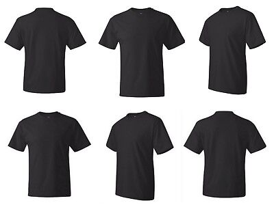 Lot of 6 Hanes Beefy T Shirt 5180 Blank Tee Size S - 4XL