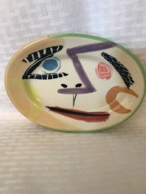 Signed Crowell Oblong Pottery Dish