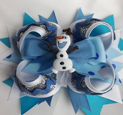 """FROZEN OLAFHairBow 4"""" with alligator clip NWOT"""