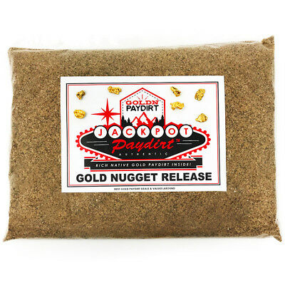 Gold Paydirt/Gravel - JACKPOT PAYDIRT 'GOLD NUGGET RELEASE' - Free Shipping