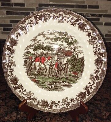 "Fox Hunting Dinner Plate Multichrome Churchill Country Life ""The Meet"""