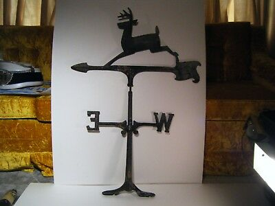 Vintage Antique John Deere Weather vane 34 inches by 24 inches missing N & S