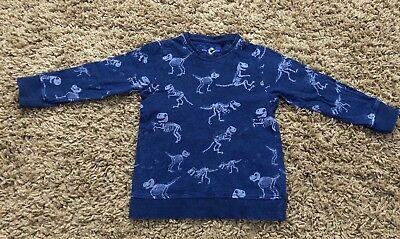Next Boys Dinosaur Top Age 3-4 - Worn Once