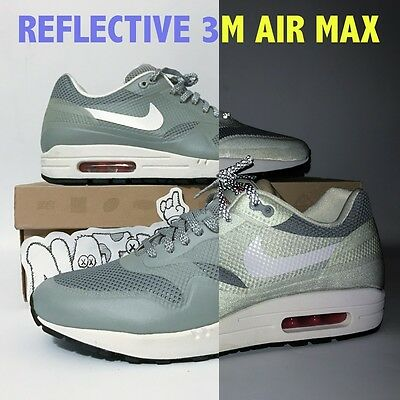 REFLECTIVE 3M SUPREME Nike Air Max 1 One Hyperfuse QS Men's Silver V ...
