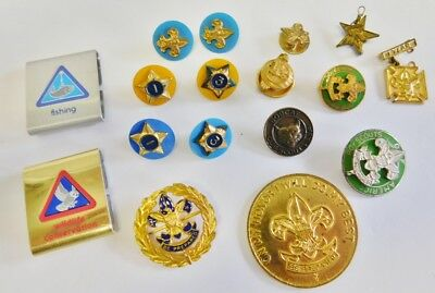 BSA Boy Scouts of America Lot of Collectible Pins Be Prepared Honor Token Misc