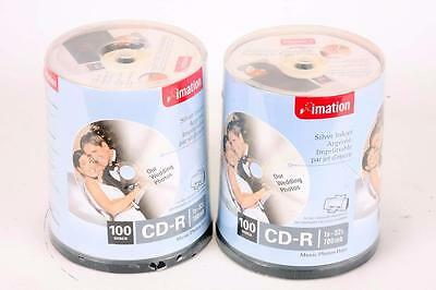200  Imation CD CD-R  700MB 52X Recording Speed. 2 X 100 Pack