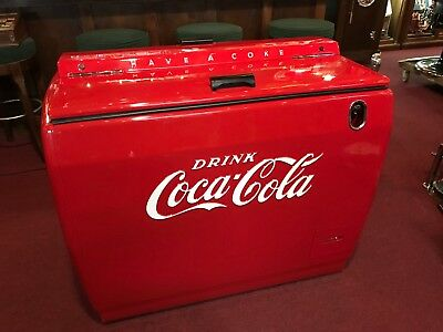 """Fully Restored 1950's COKE Coca Cola Westinghouse Cooler """"Watch Video"""""""