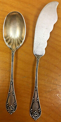 Vintage/Antique Sterling Silver Cheese Set, Knife Spreader & Spoon
