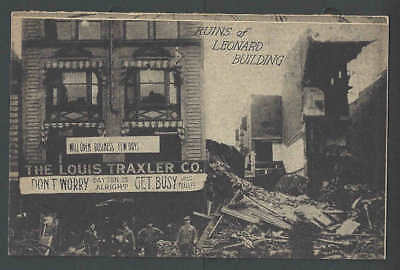 1918 PPC Dayton Oh July 31 The Leonard Bldg Collapses From The Back Due See Info
