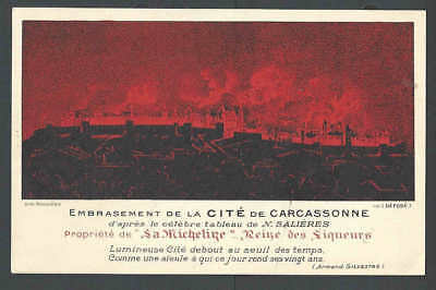 Ca 1909 PPC Carcasonne France Fire Destroys City To The Ground Wine See Info