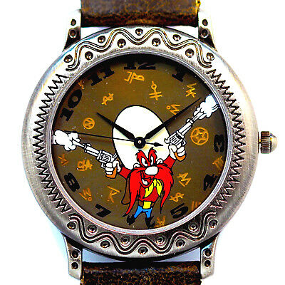 Yosemite Sam New Fossil W-B Filigree Bezel Unworn Watch, Highly Collectible $185
