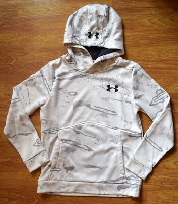 UNDER ARMOUR Storm Camo Pullover Hoodie Sweatshirt 1286119 Youth Boys YMD 10-12