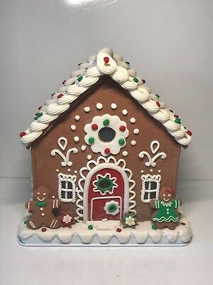 """9"""" Illuminated Gingerbread House by Valerie H205289 NEW"""