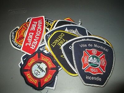 27 Different CANADA City FIRE Dept Patches
