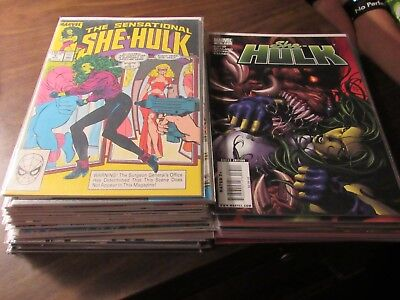 Lot of 35 Different She Hulk Marvel Comic Book Collection Sensational & More!