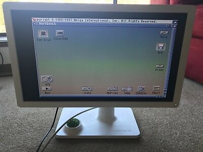 """BenQ 24"""" LCD LED monitor and adapter for the Commodore Amiga"""