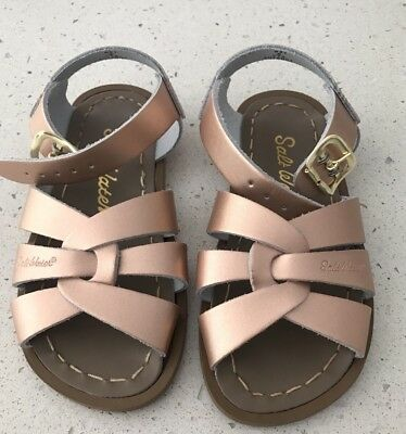 Saltwater Classic Sandals Rose Gold - Little Kid Size 8 - BRAND NEW WITHOUT BOX