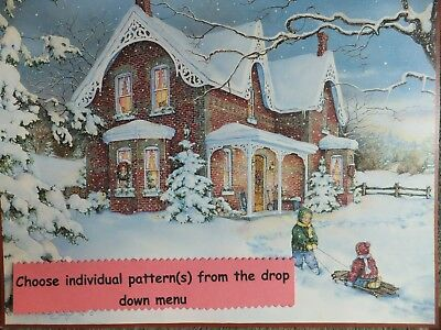 Christmas / Xmas / Winter Stick Up, Mantle, Cardinal, Kitty, Gifts PC Patterns