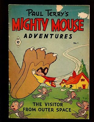 Mighty Mouse Adventures #1 (St. John, 11/51) Paul Terry Heckle & Jeckle Dinky