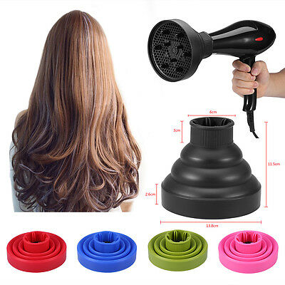 Travel Folding Silicone Hair Dryer Blower Hood Diffuser Hairdress Tool Universal