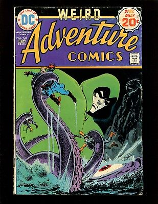 Adventure Comics #436 VG+ Aparo Grell Spectre Aquaman Black Manta