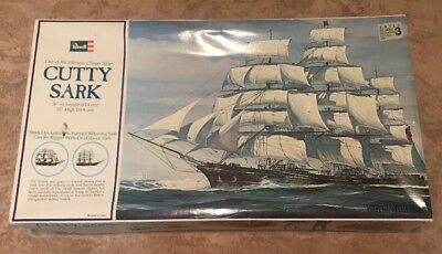 "1987 Revell Cutty Sark 36"" Ship Model Kit H-399 Complete In Box w/ Instructions"