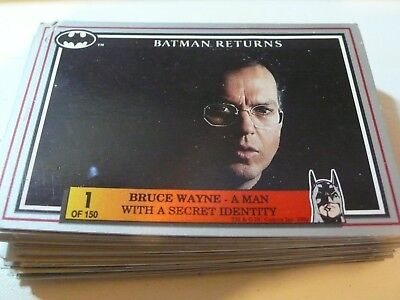 Batman Returns Trading cards  56 cards. No Doubles ; Sell for Charity