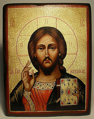 Handmade copy ancient ORTHODOX ICON of Jesus Christ the Savior 76L