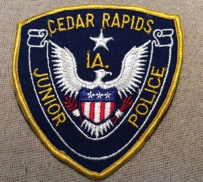 IA Vintage Cedar Rapids Iowa Junior Police Patch